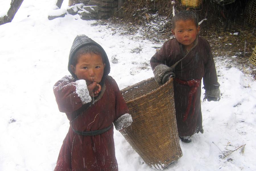 Manaslu Trek Children
